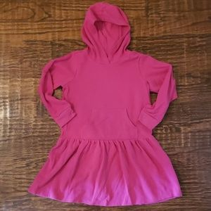Bright pink dress with hoodie